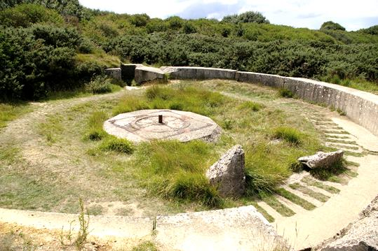 Bild 5: Bettung am Point du Hoc